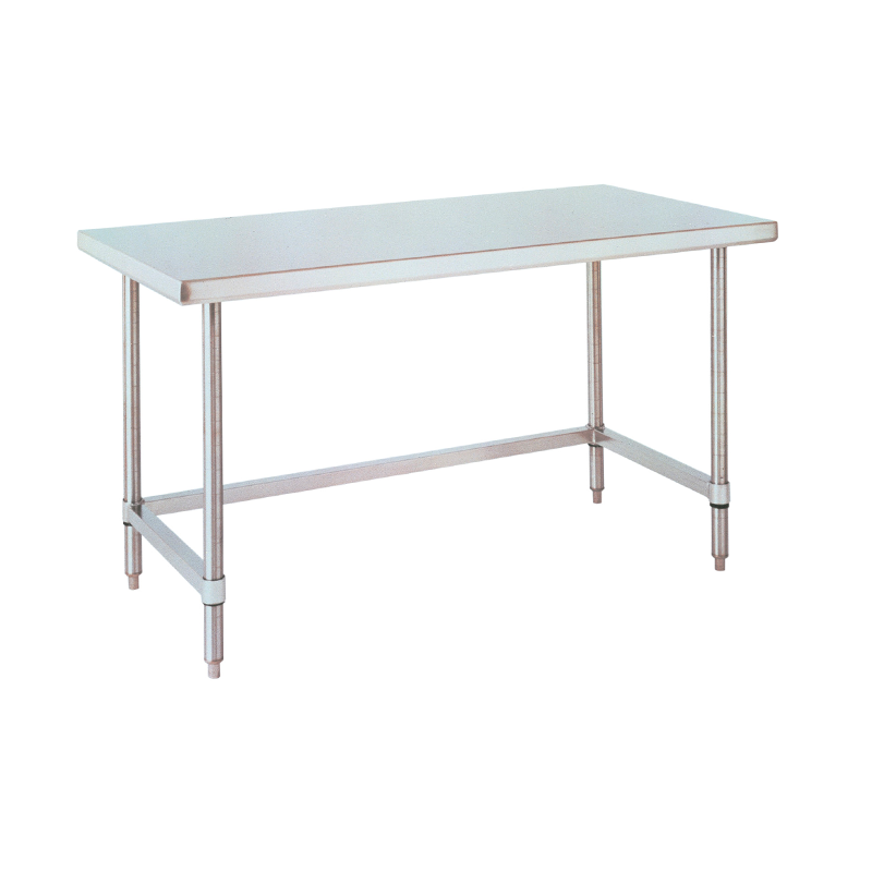 Stationary Lab Table With U Frame (Stainless Steel)