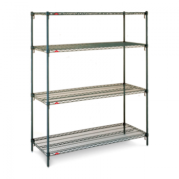 Super Erecta Super Adjustable 4 Shelf Stationary Wire Shelving Unit, 63″H (Metroseal 3)