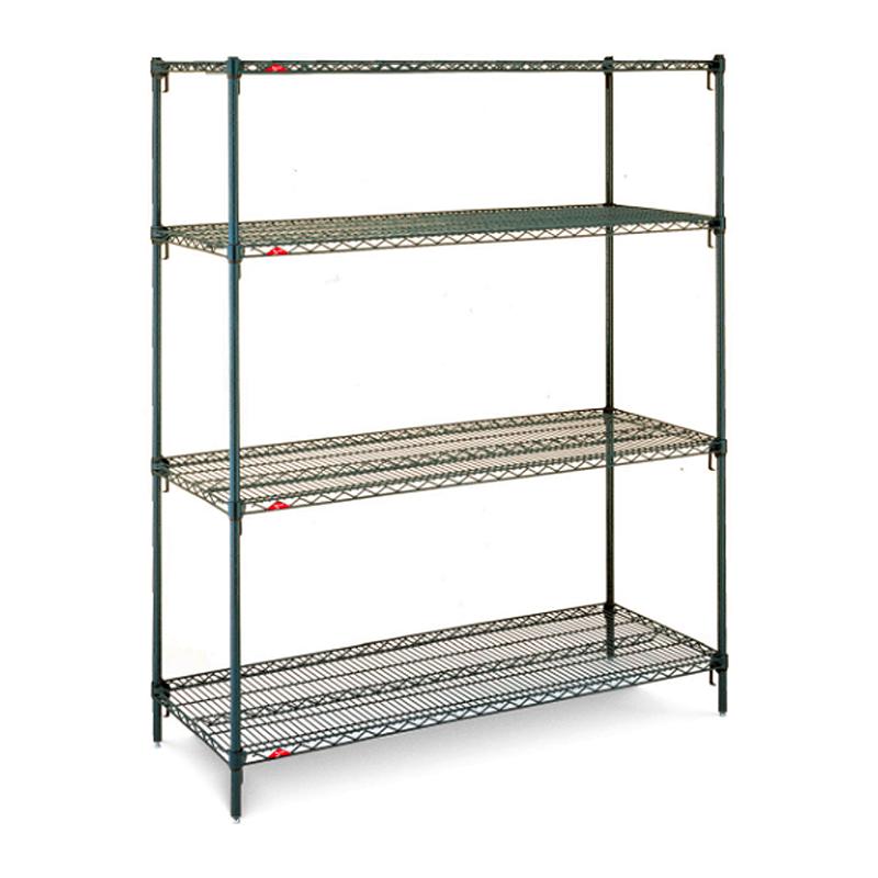 Super Erecta Super Adjustable 4 Shelf Stationary Wire Shelving Unit, 63″H (Metroseal 3)