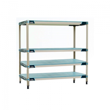 MetroMax I 4 Shelf Stationary Solid Shelving Unit, 63″H