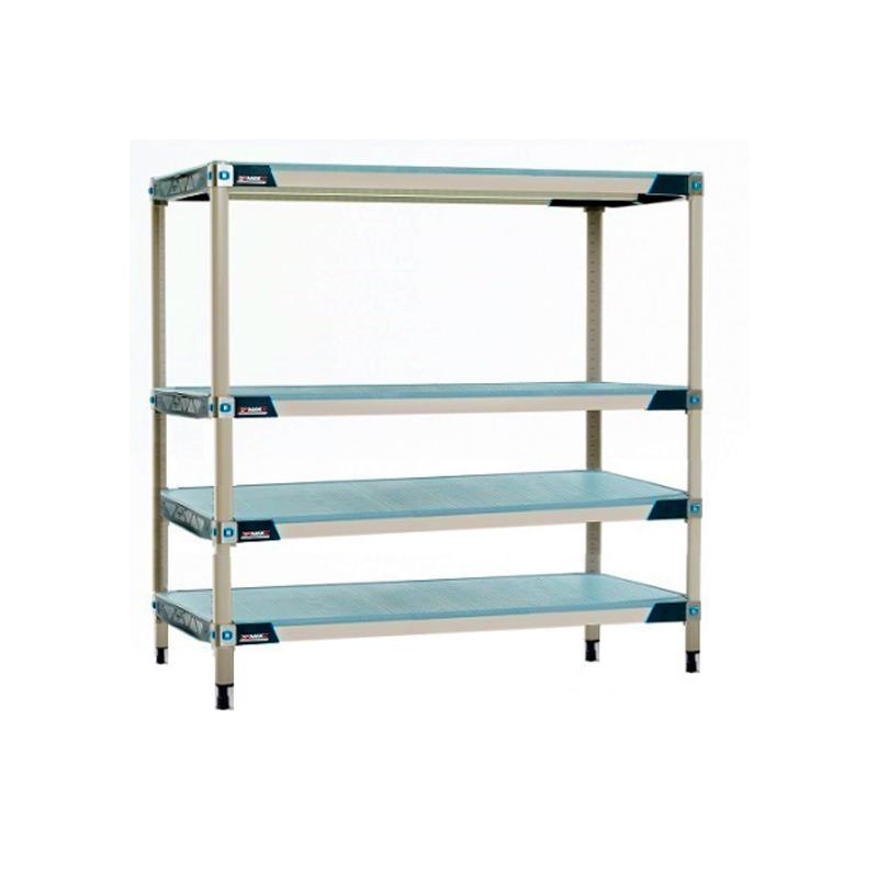 MetroMax I 4 Shelf Stationary Solid Shelving Unit, 63″H