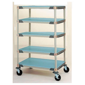MetroMax I 5 Shelf Mobile Solid Shelving Unit, 79″H