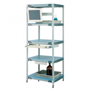 MetroMax I 5 Shelf Stationary Solid Shelving Unit, 74″H