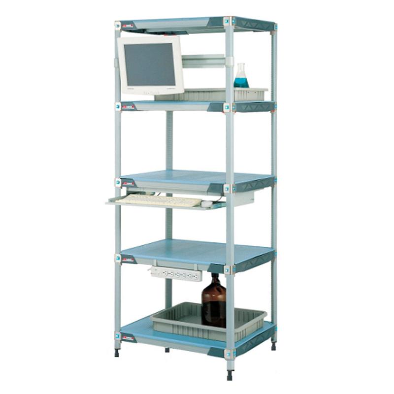 MetroMax I 5 Shelf Stationary Solid Shelving Unit, 74″H