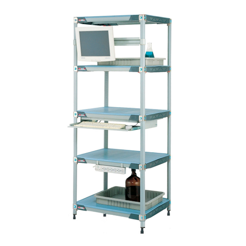 MetroMax I 5 Shelf Stationary Solid Shelving Unit, 63″H