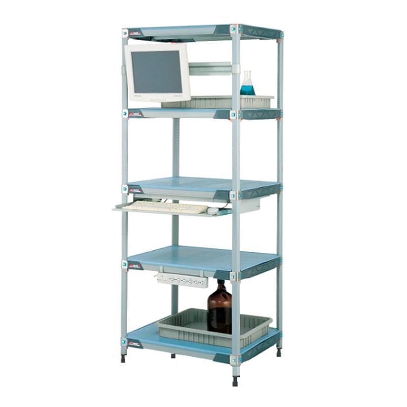 MetroMax I 5 Shelf Stationary Solid Shelving Unit, 63″H