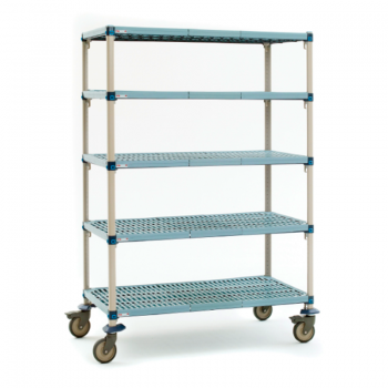 MetroMax Q 5 Shelf Mobile Open Grid Shelving Unit, 68″H