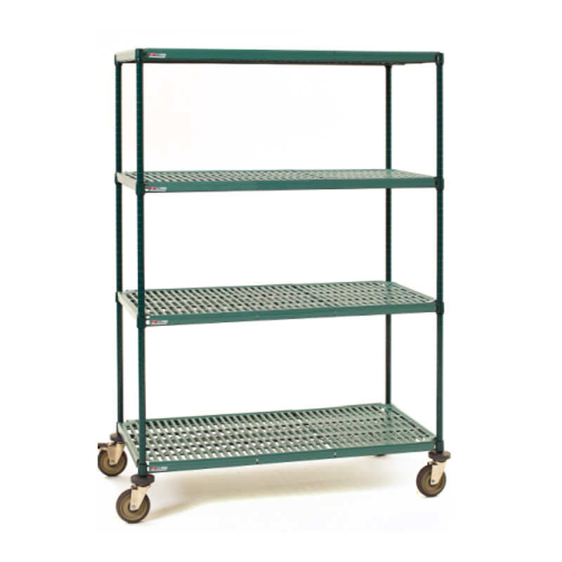 Super Erecta Pro 4 Shelf Mobile Shelving Unit, 68″H
