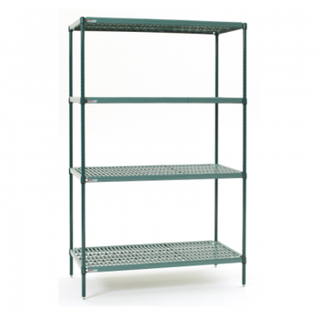 Super Erecta Pro 4 Shelf Stationary Shelving Unit, 74″H