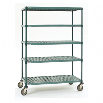 Super Erecta Pro 5 Shelf Mobile Shelving Unit, 79″H