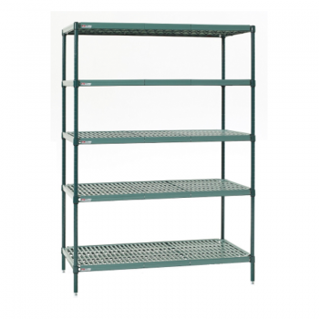 Super Erecta Pro 5 Shelf Stationary Shelving Unit, 63″H