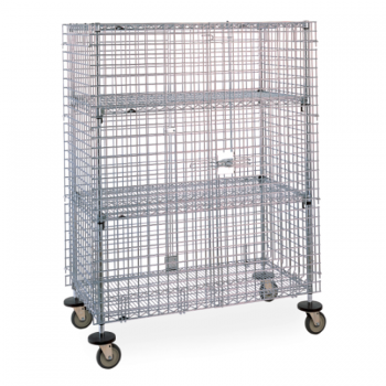 Super Erecta 2 Tier Wire Mobile Security Cage (Chrome)