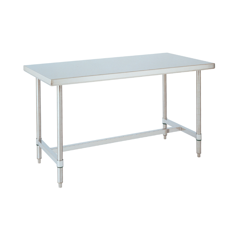 HD Super Stationary Table With H Frame (Stainless Steel)