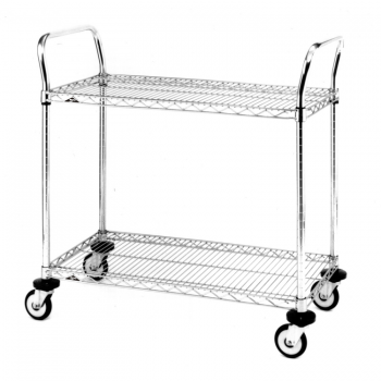 MW Series 2 Tier Wire Shelves Utility Cart