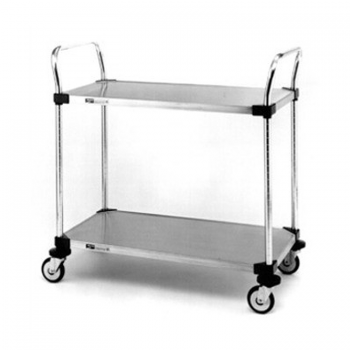MW Series 2 Tier Solid Shelves Utility Cart