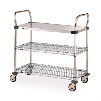 MW Series 1 Solid 2 Wire 3 Tier Utility Cart