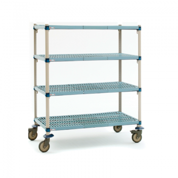 MetroMax Q 4 Shelf Mobile Open Grid Shelving Unit, 79″H