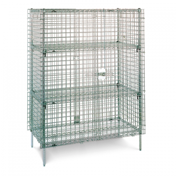 Super Erecta 2 Tier Wire Stationary Security Cage (Stainless Steel)