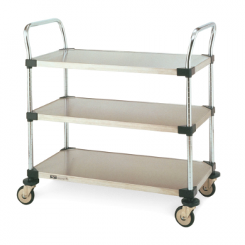 MW Series 3 Tier Solid Shelves Utility Cart