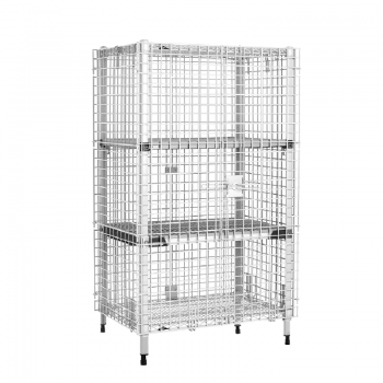 MetroMax Q Stationary 2 Tier Open Grid Security Cage