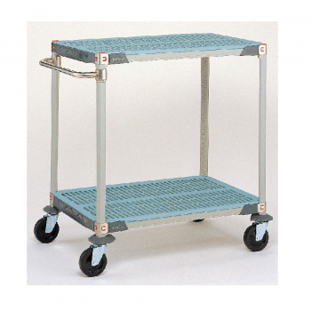 MetroMax Q 2 Tier Open Grid Utility Cart
