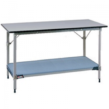 MetroMax I Stationary Lab Table With Gray Phenolic Top And Lower Solid Polymer  Shelf