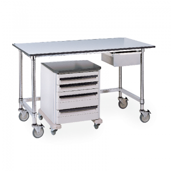MetroMax I Mobile Lab Table With Gray Phenolic Top And U Frame