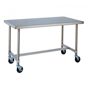 HD Super Mobile Table With H Frame (Stainless Steel)