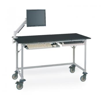 MetroMax I Mobile Lab Table With Black Phenolic Top And U Frame