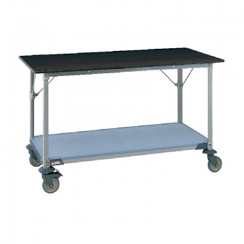 MetroMax I Mobile Lab Table With Black Phenolic Top And Lower Solid Polymer Shelf