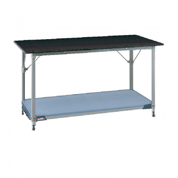 MetroMax I Stationary Lab Table With Black Phenolic Top And Lower Solid Polymer  Shelf