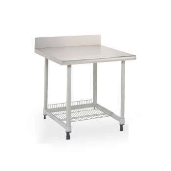 MetroMax I Stationary Lab Table With Stainless Top, Back Splash And U Frame