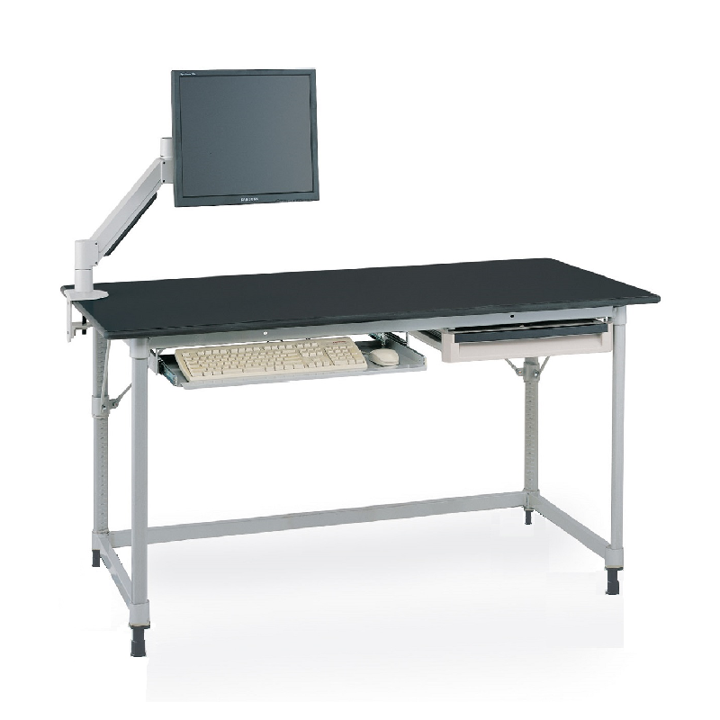 MetroMax I Stationary Lab Table With Black Phenolic Top And U Frame