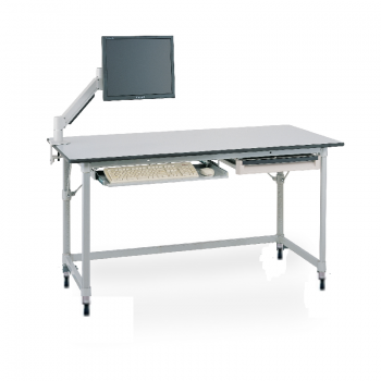 MetroMax I Stationary Lab Table With Gray Phenolic Top And U Frame
