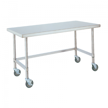 Mobile Stainless Lab Table With U Frame