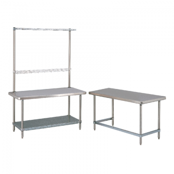 HD Super Stationary Table With Overhead And U Frame (Stainless Steel)
